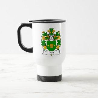 Escudo de la familia de Plon Tazas De Café