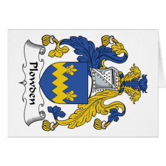 Escudo de la familia de Plowden Felicitaciones