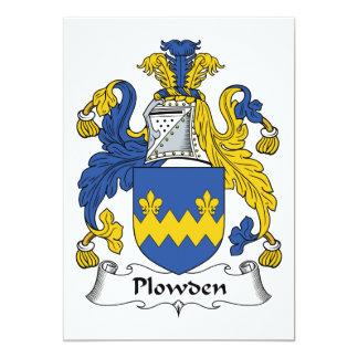 Escudo de la familia de Plowden Invitación 12,7 X 17,8 Cm