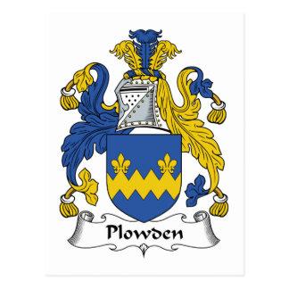 Escudo de la familia de Plowden Tarjetas Postales