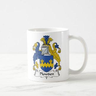 Escudo de la familia de Plowden Taza De Café
