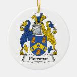 Escudo de la familia de Plummer Adornos De Navidad