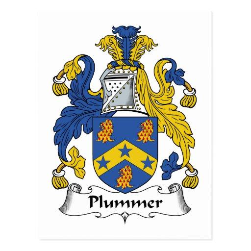 Escudo de la familia de Plummer Postal
