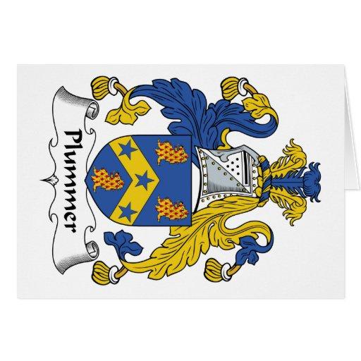 Escudo de la familia de Plummer Tarjeta De Felicitación