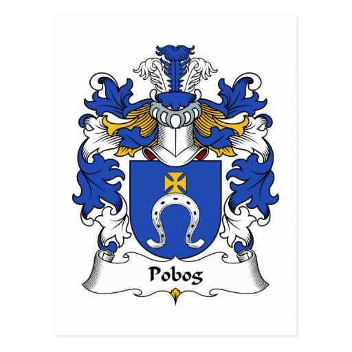 Escudo de la familia de Pobog Postales