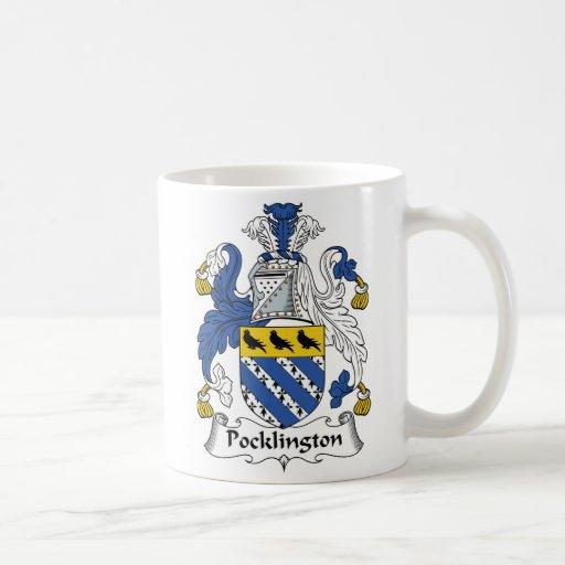Escudo de la familia de Pocklington Taza De Café