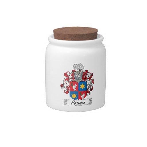 Escudo de la familia de Podesta Jarra Para Caramelo