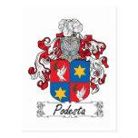Escudo de la familia de Podesta Postal