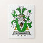 Escudo de la familia de Podmore Rompecabezas Con Fotos
