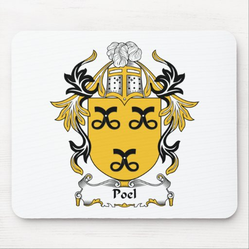 Escudo de la familia de Poel Alfombrilla De Ratones