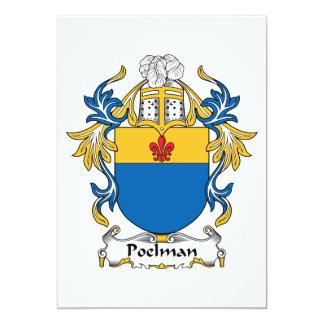"""Escudo de la familia de Poelman Invitación 5"""" X 7"""""""