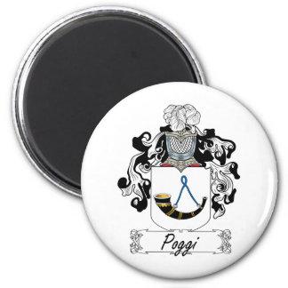 Escudo de la familia de Poggi Imán Redondo 5 Cm