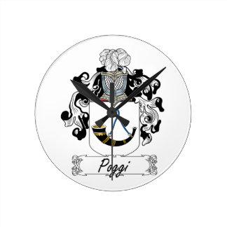 Escudo de la familia de Poggi Reloj