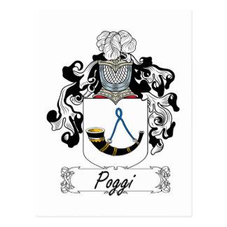 Escudo de la familia de Poggi Tarjetas Postales