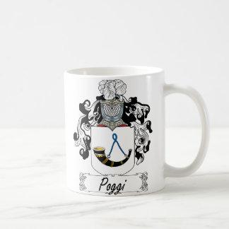 Escudo de la familia de Poggi Taza Básica Blanca