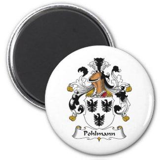 Escudo de la familia de Pohlmann Imán Redondo 5 Cm
