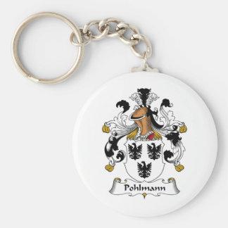 Escudo de la familia de Pohlmann Llavero Redondo Tipo Pin