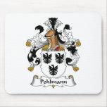 Escudo de la familia de Pohlmann Alfombrillas De Raton