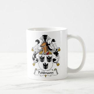 Escudo de la familia de Pohlmann Taza Clásica
