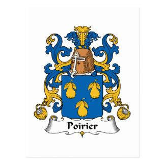 Escudo de la familia de Poirier Tarjetas Postales