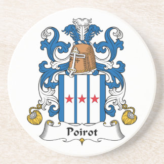 Escudo de la familia de Poirot Posavasos Manualidades