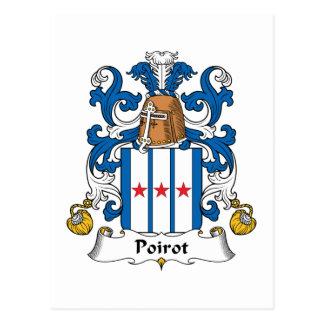 Escudo de la familia de Poirot Postal