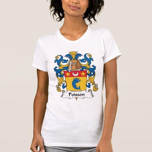 Escudo de la familia de Poisson Camiseta