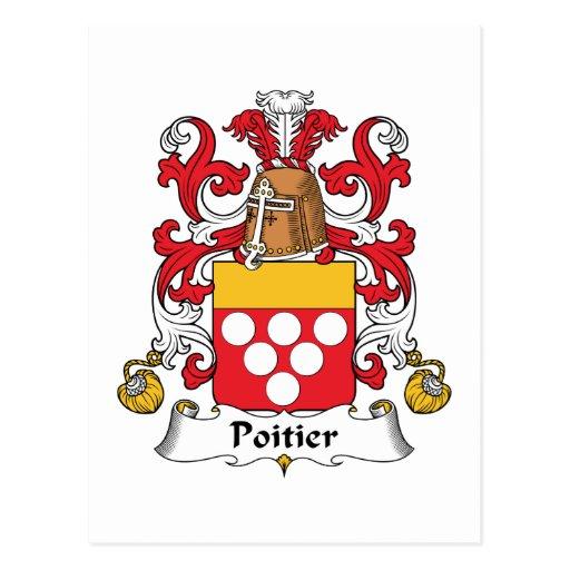 Escudo de la familia de Poitier Postal