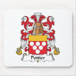 Escudo de la familia de Poitier Alfombrilla De Ratones