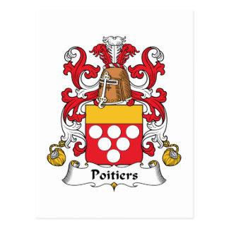 Escudo de la familia de Poitiers Postal