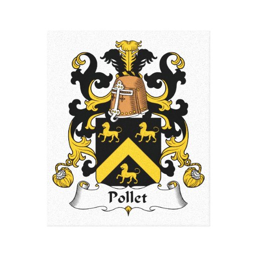 Escudo de la familia de Pollet Lona Envuelta Para Galerias