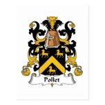 Escudo de la familia de Pollet Tarjetas Postales