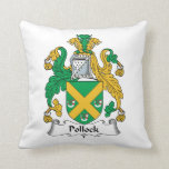 Escudo de la familia de Pollock Almohada