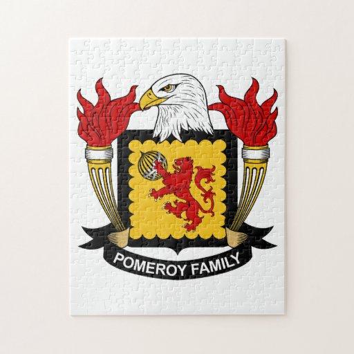 Escudo de la familia de Pomeroy Rompecabeza Con Fotos