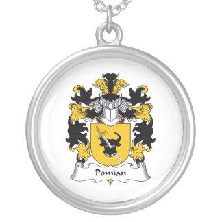 Escudo de la familia de Pomian Colgante Redondo