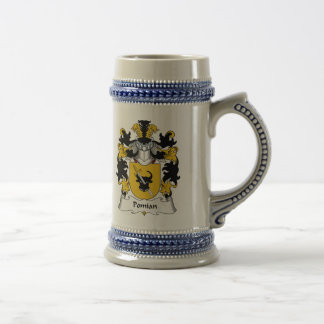 Escudo de la familia de Pomian Taza De Café