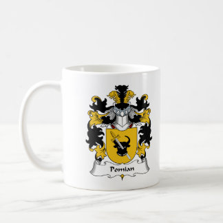 Escudo de la familia de Pomian Tazas De Café