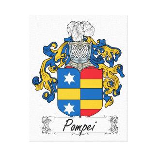 Escudo de la familia de Pompeya Lienzo Envuelto Para Galerias