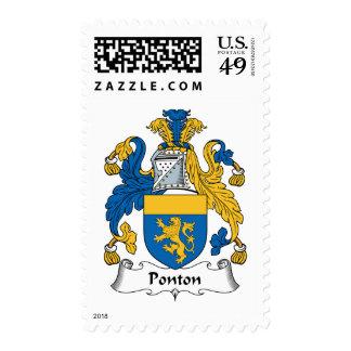 Escudo de la familia de Ponton Envio
