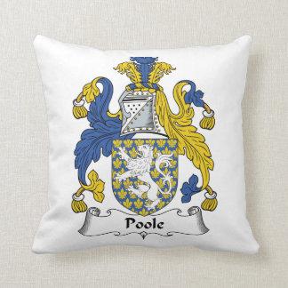 Escudo de la familia de Poole Almohada