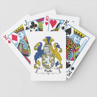 Escudo de la familia de Poole Baraja Cartas De Poker