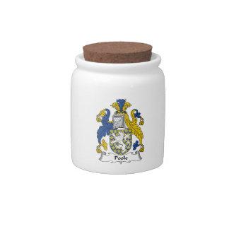 Escudo de la familia de Poole Jarras Para Caramelos