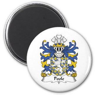 Escudo de la familia de Poole Imán Redondo 5 Cm