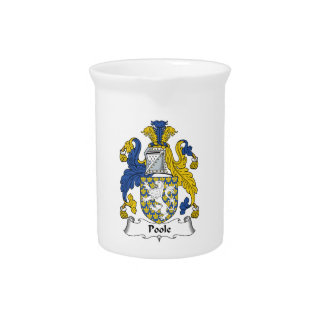 Escudo de la familia de Poole Jarras De Beber