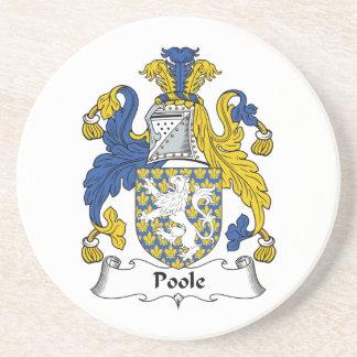 Escudo de la familia de Poole Posavasos Manualidades