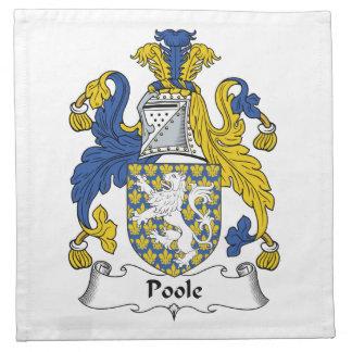 Escudo de la familia de Poole Servilletas De Papel