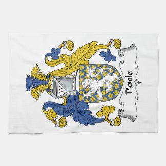 Escudo de la familia de Poole Toalla De Mano
