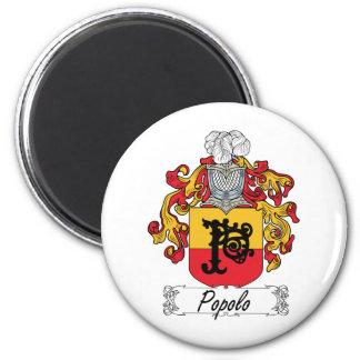 Escudo de la familia de Popolo Imán Redondo 5 Cm