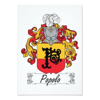 """Escudo de la familia de Popolo Invitación 5"""" X 7"""""""