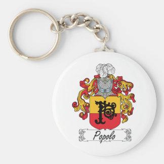 Escudo de la familia de Popolo Llavero Redondo Tipo Pin